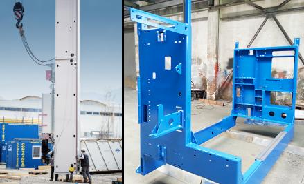 Komponenten für die Logistikindustrie und Regale